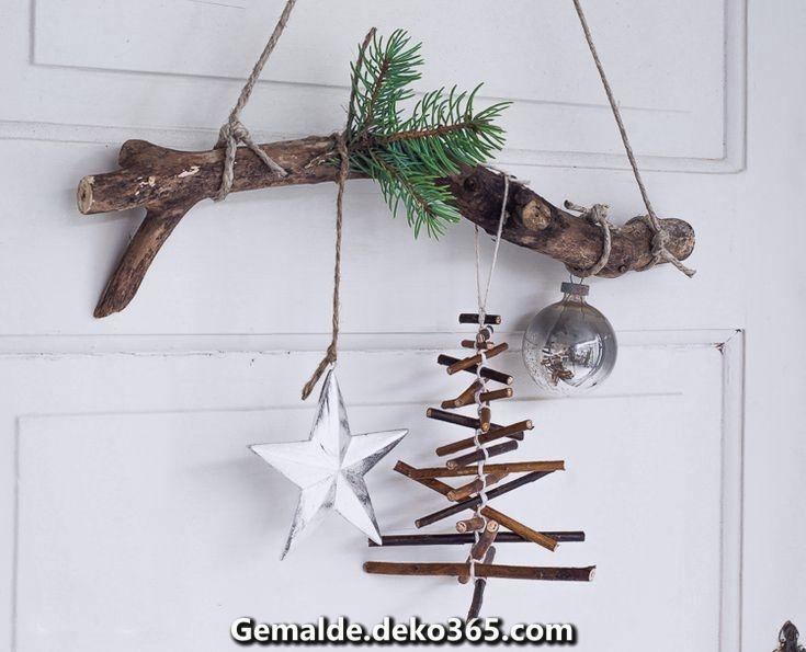 Elegante Zweige Weihnachtsdekoration Naturmaterialien handgefertigt # Weihnachtsdekoration #i... #twigcrafts