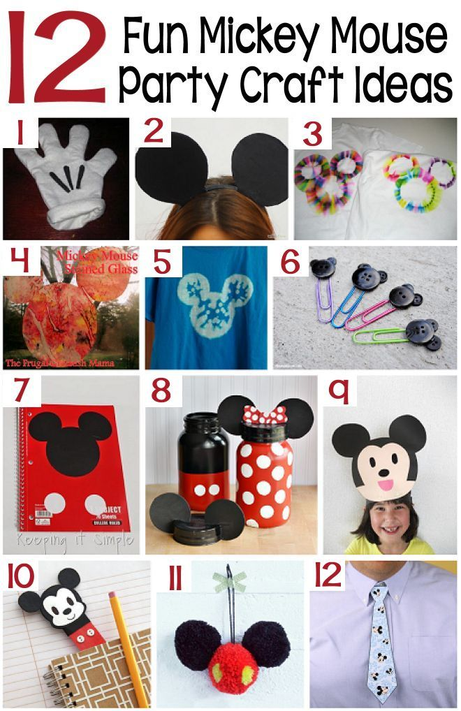 mickey mouse crafts for birthday party
