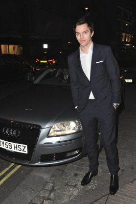 Nicholas Hoult and is that his car ? haha coz' most of the guys I like drives an Audi hahaha