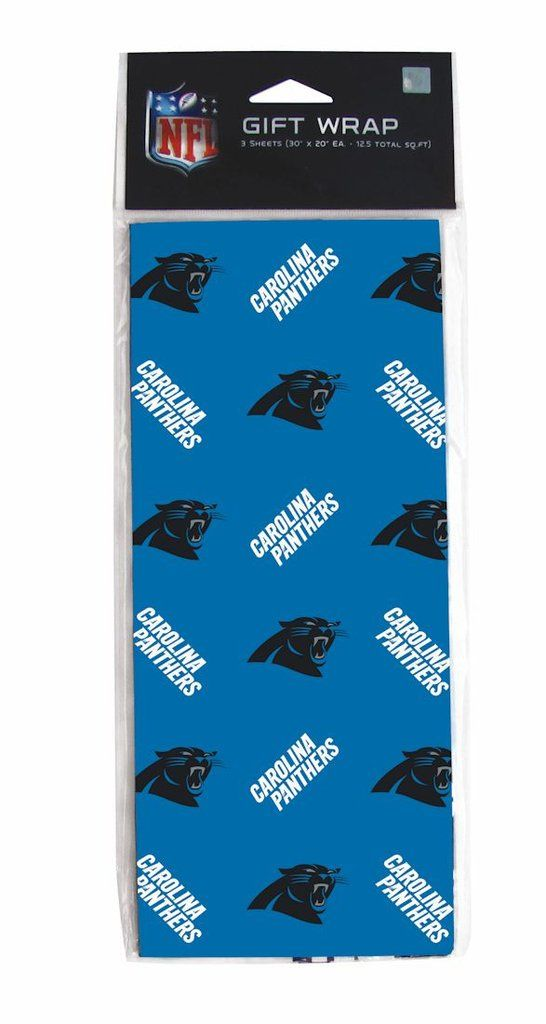 Carolina Panthers Gift Wrap | Nfl team colors and Products