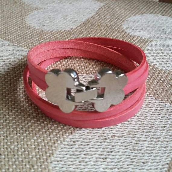 Check out this item in my Etsy shop https://www.etsy.com/listing/231000712/pink-leather-wrap-bracelet