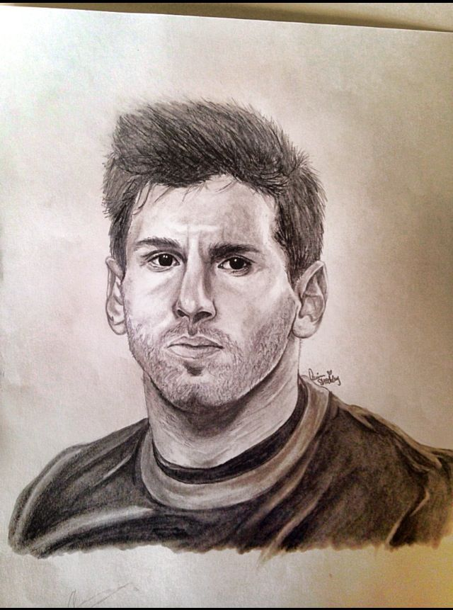 Lionel messi drawing