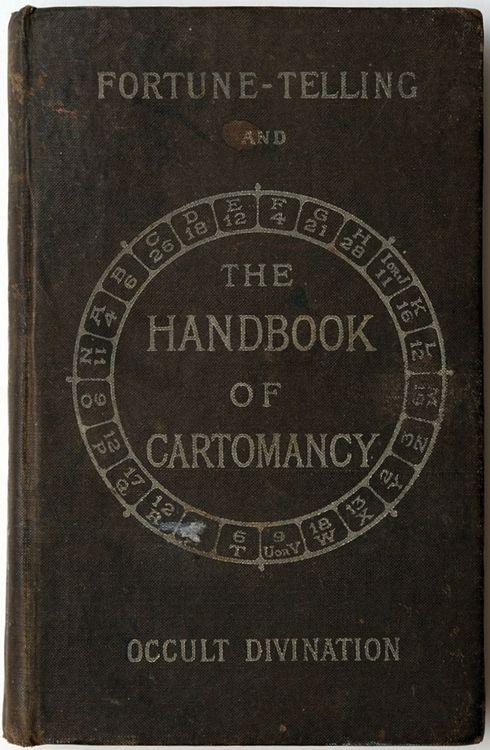 retro hardcover fortune telling manual