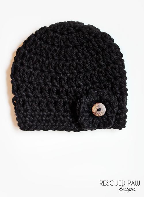 Chunky Black Button Hat Pattern {CROCHET PATTERN} | crochet ...