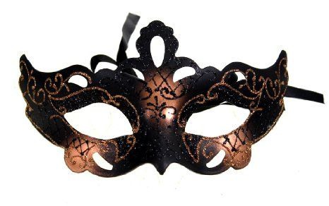 Amazon.com: RedSkyTrader Womens Sparkling Gothic Venetian Mask One Size  Fits Most Copper: