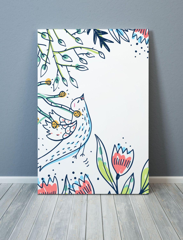 Design poster 70x100 - Design Bird And Flowers Poster A3 50x70 Cm 70x100 Cm Digital Print Printable Poster Wall Art Homedecor Scandinavian Design