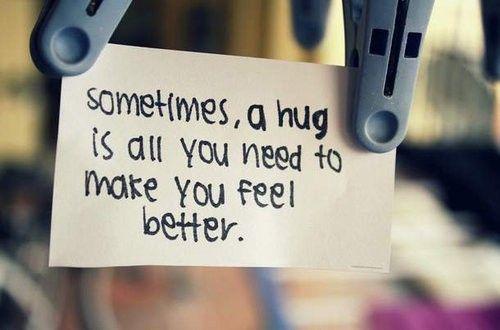 Michael gives the best hugs. I immediately feel better and safe. :)