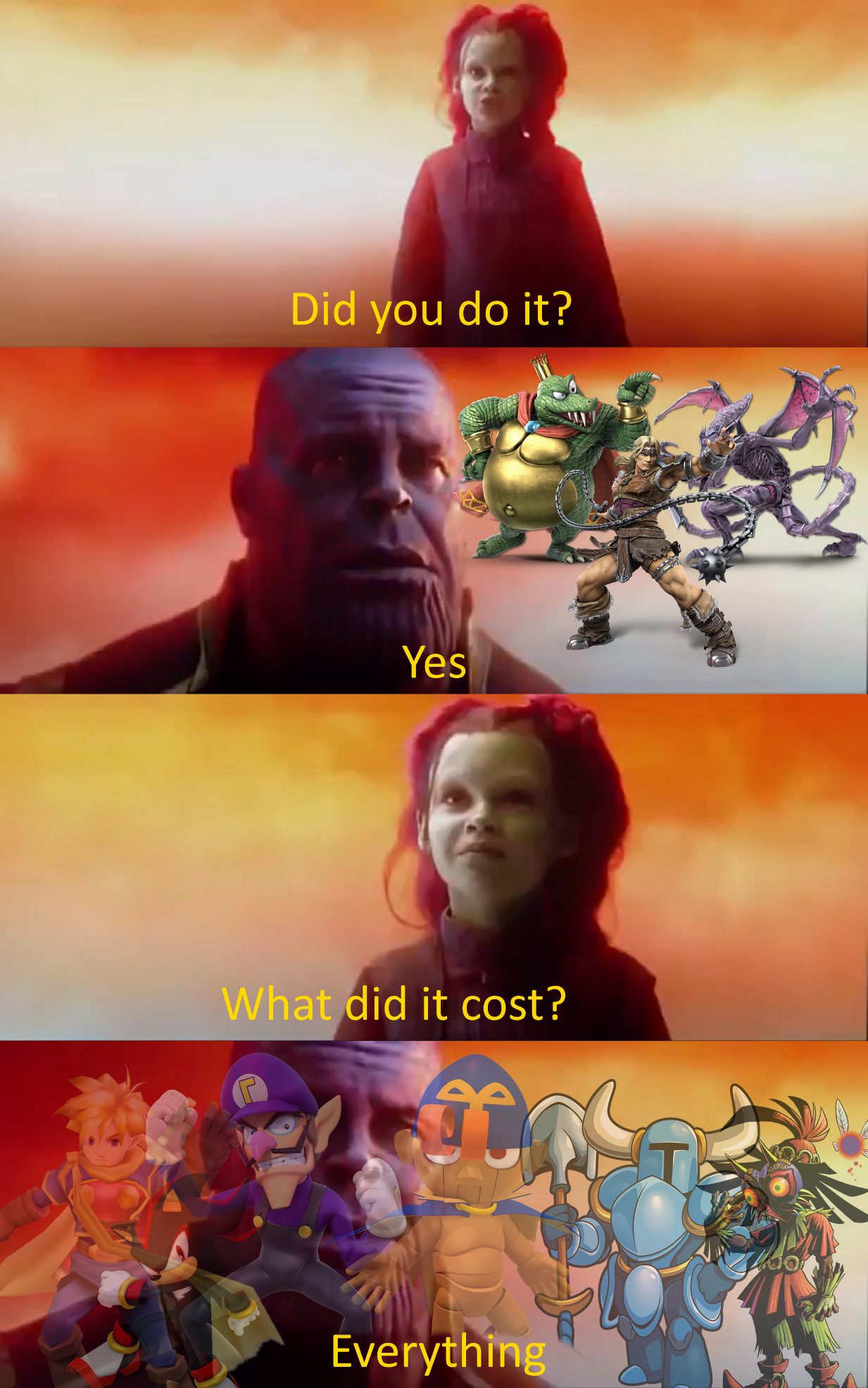 Sacrifices | What Did It Cost? Everything | Smash bros ...