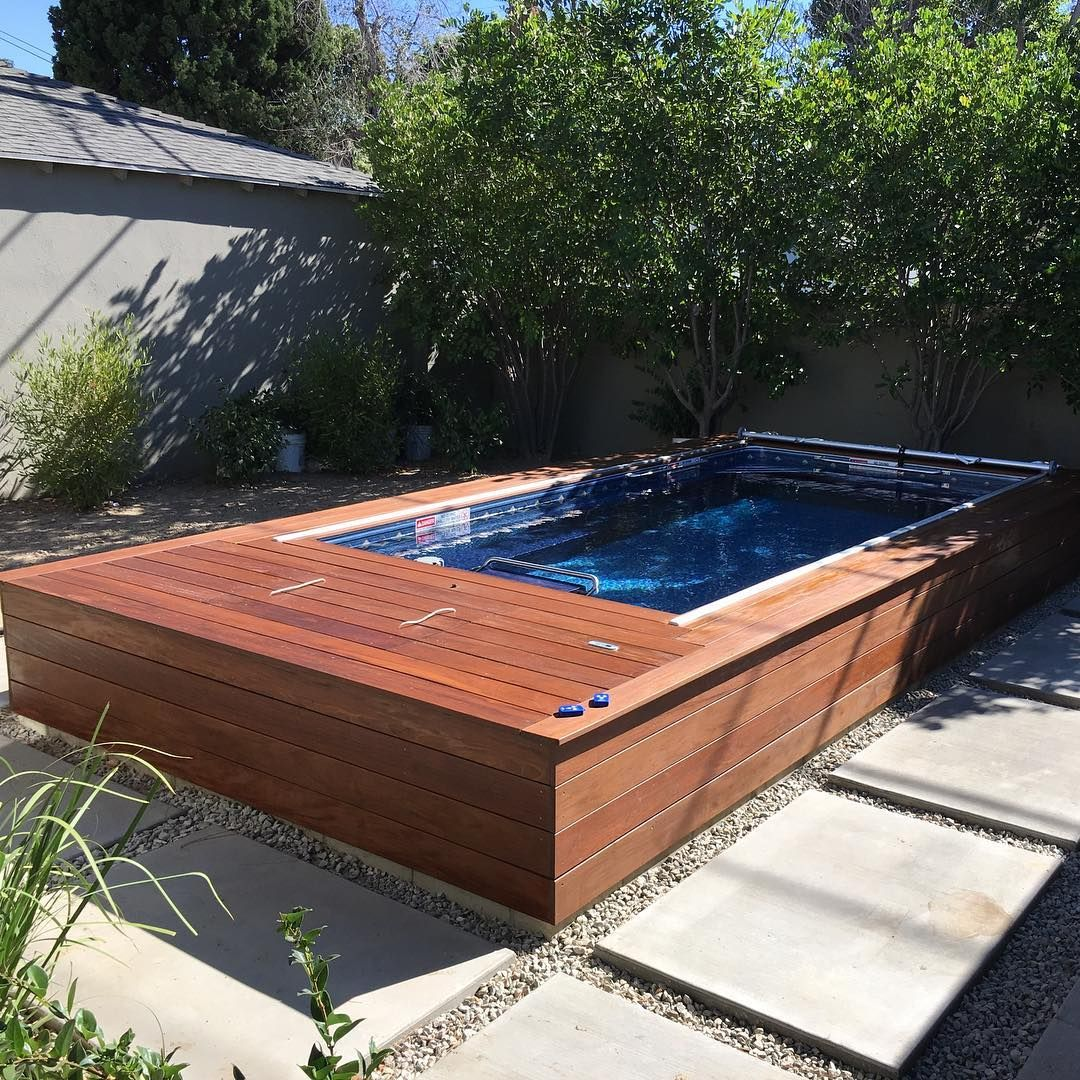 The Compact Endless Pool Lets You Enjoy An In Place Swim And Other Big Pool Benefits All In One Comp Endless Pool Endless Pool Backyard Endless Swimming Pool