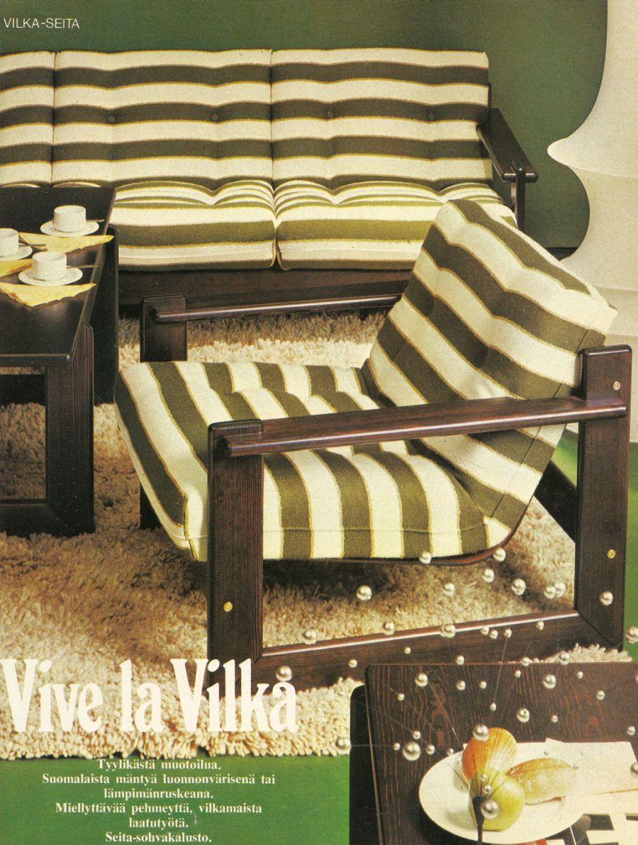 Finnish Retro Living Room Furniture Sets: Seita By Vilke   70 Luvulta,  Päivää Part 61