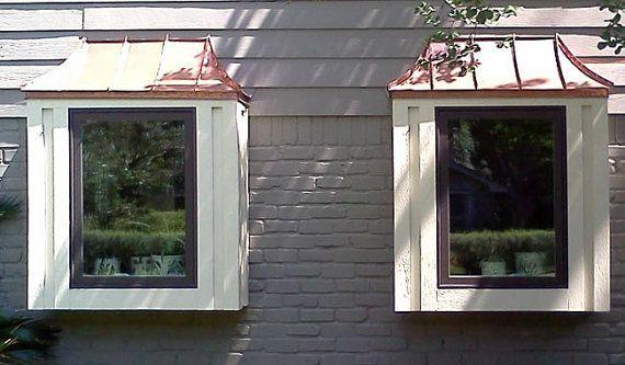 Copper Sweep Box Window Roof Windows Copper Awning Bay Window