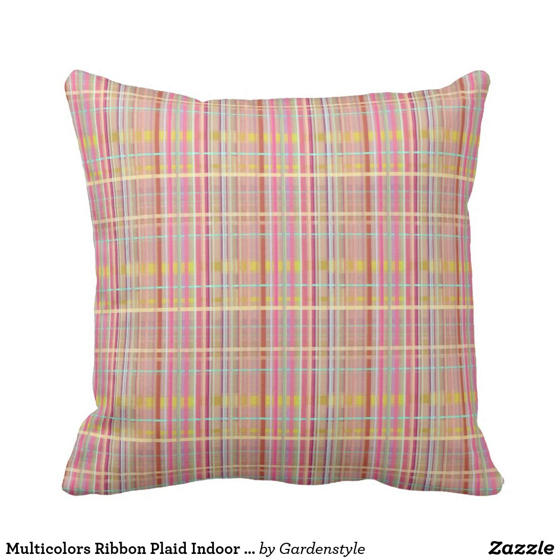 Multicolors ribbon plaid indoor pillow x pillows and throw pillows