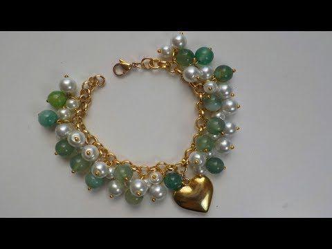 039307df0481 Como hacer un Collar Elegante de Cristales Gotas   Pekas Creaciones -  YouTube
