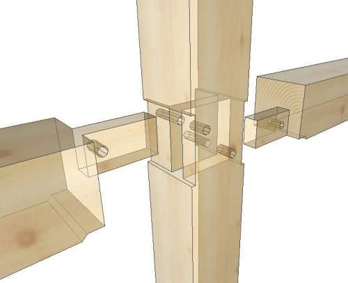 timber frame interior wall google search