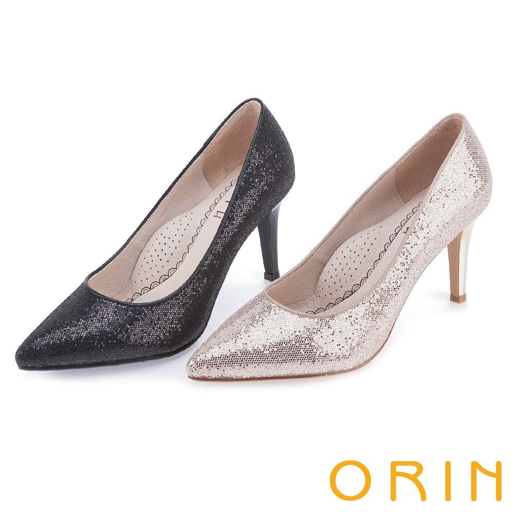 2380-魅力新時尚 素面特殊亮片高跟鞋-黑色 - (剩50/70/75) 銀剩50/55/65/75  --8CM