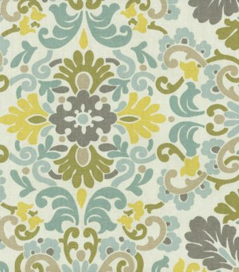 Home Decor Print Fabric- PKL Folk Damask Bliss