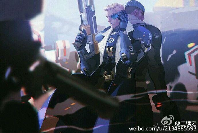 #守望先锋##overwatch# 最近病了 也懒得整... 来自王续之 - 微博 Soldier76 and Reaper