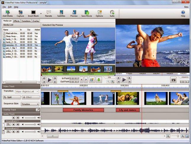 Nch Videopad Video Editor Professional 4 00 Portable Free Download Software Free Full Version Downl Edicion De Video Programas De Fotografia Editor De Videos