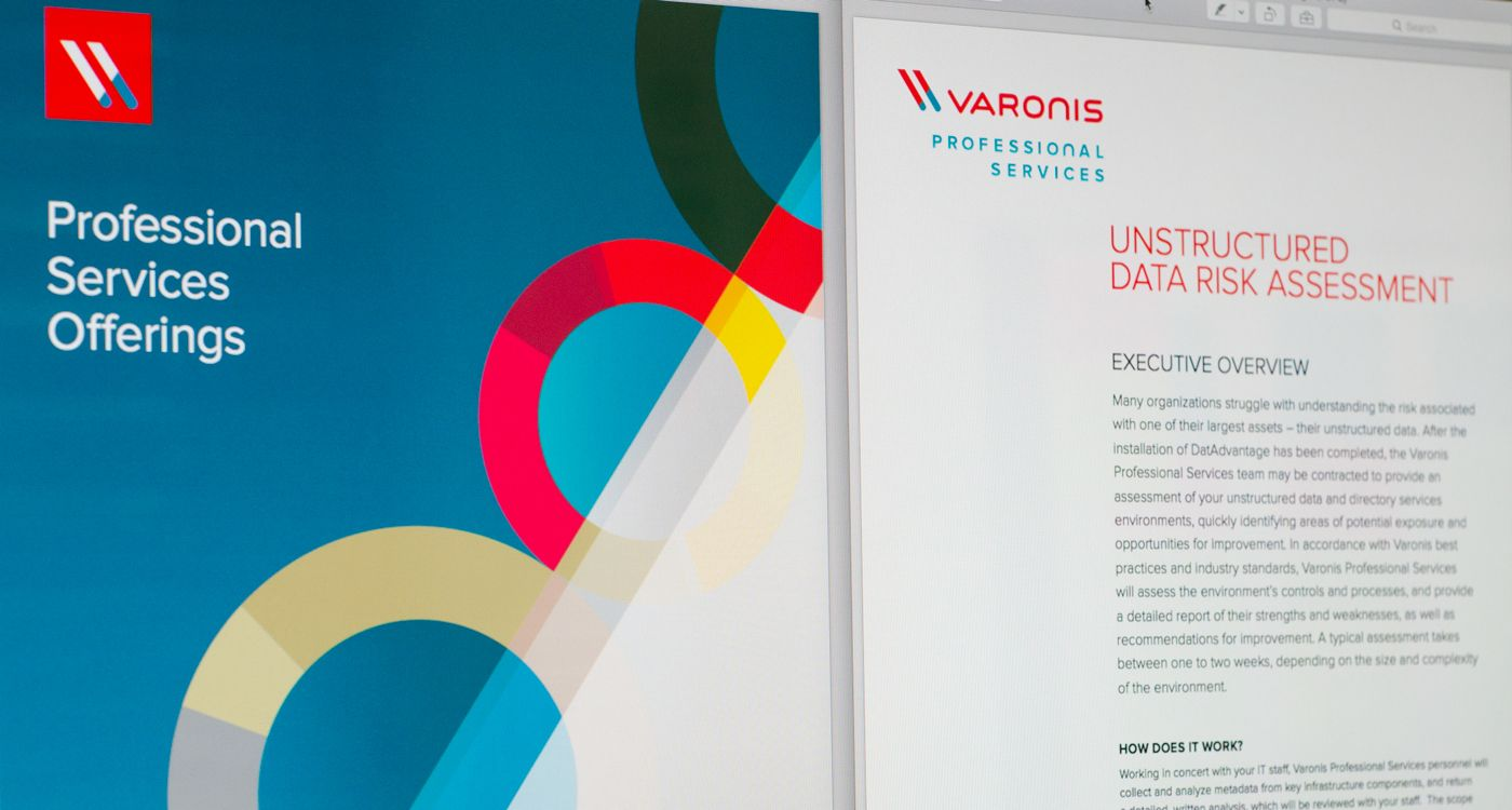 Our Varonis Professional Services Branding Datasheet And