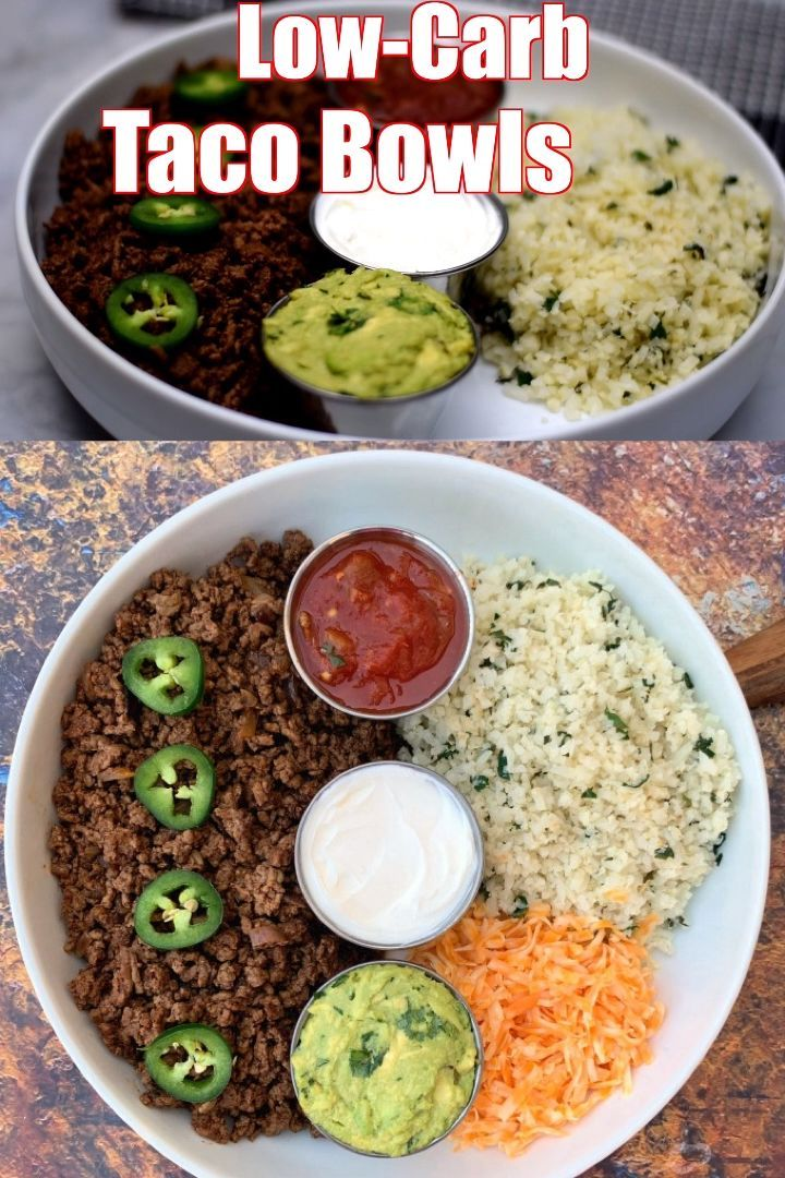 Easy 30minute keto taco bowls with cauliflower rice