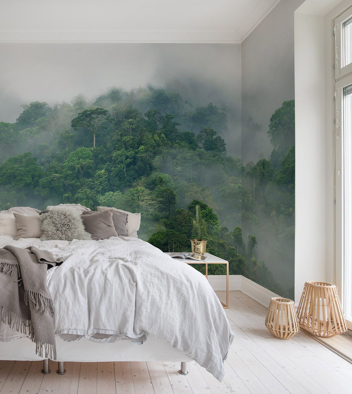 Moderne Schlafzimmer Tapeten Misty Forest In 2019 Urban Jungle Tapeten Und