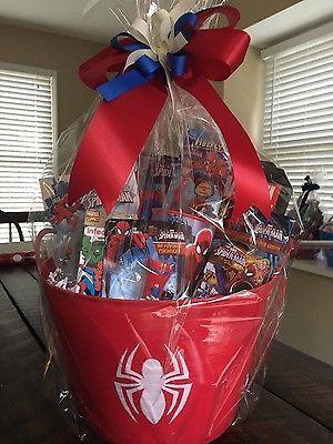 Marvel Spider Man Gift Basket with 3 75 Action Figures