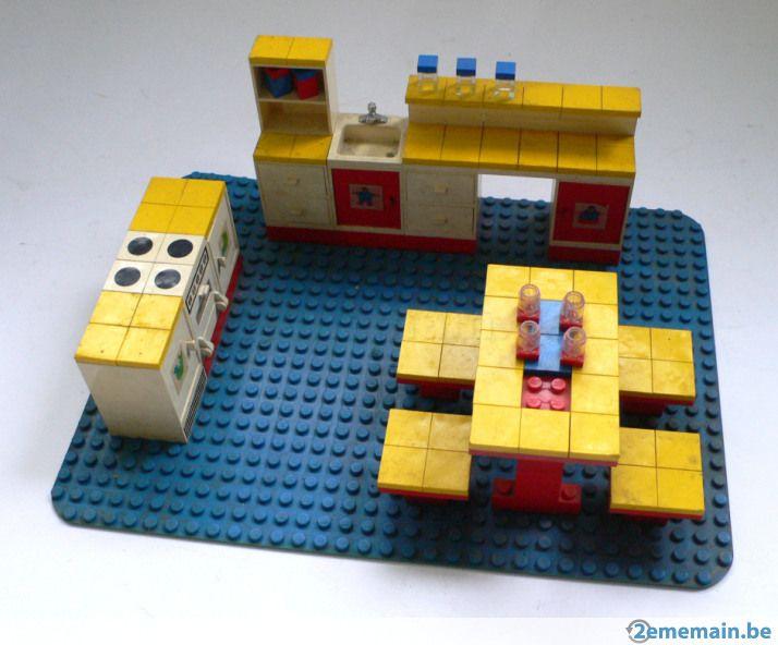 Vintage lego display set keuken op plaat s blast from the