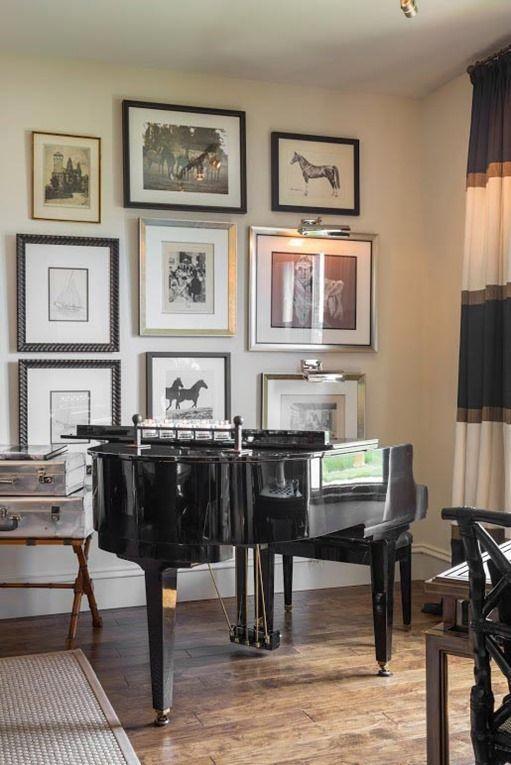 baby grand living room | Living Room | Pinterest | Wall galleries ...