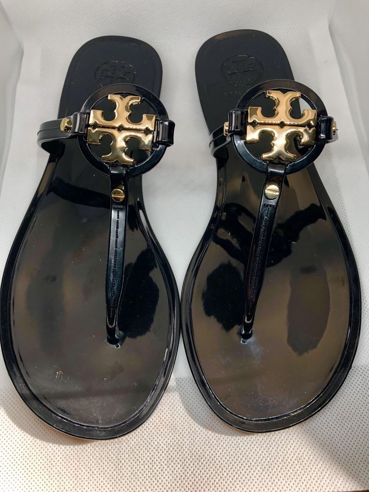 12df026b24f Tory Burch Mini Miller Jelly Thong Sandals Black Sz Women s 8  fashion   clothing  shoes  accessories  womensshoes  sandals (ebay link)