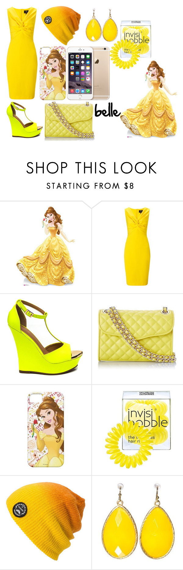 """belle look"" by cherlinanelemans on Polyvore featuring Ariella, Rebecca Minkoff, Invisibobble and Spacecraft"
