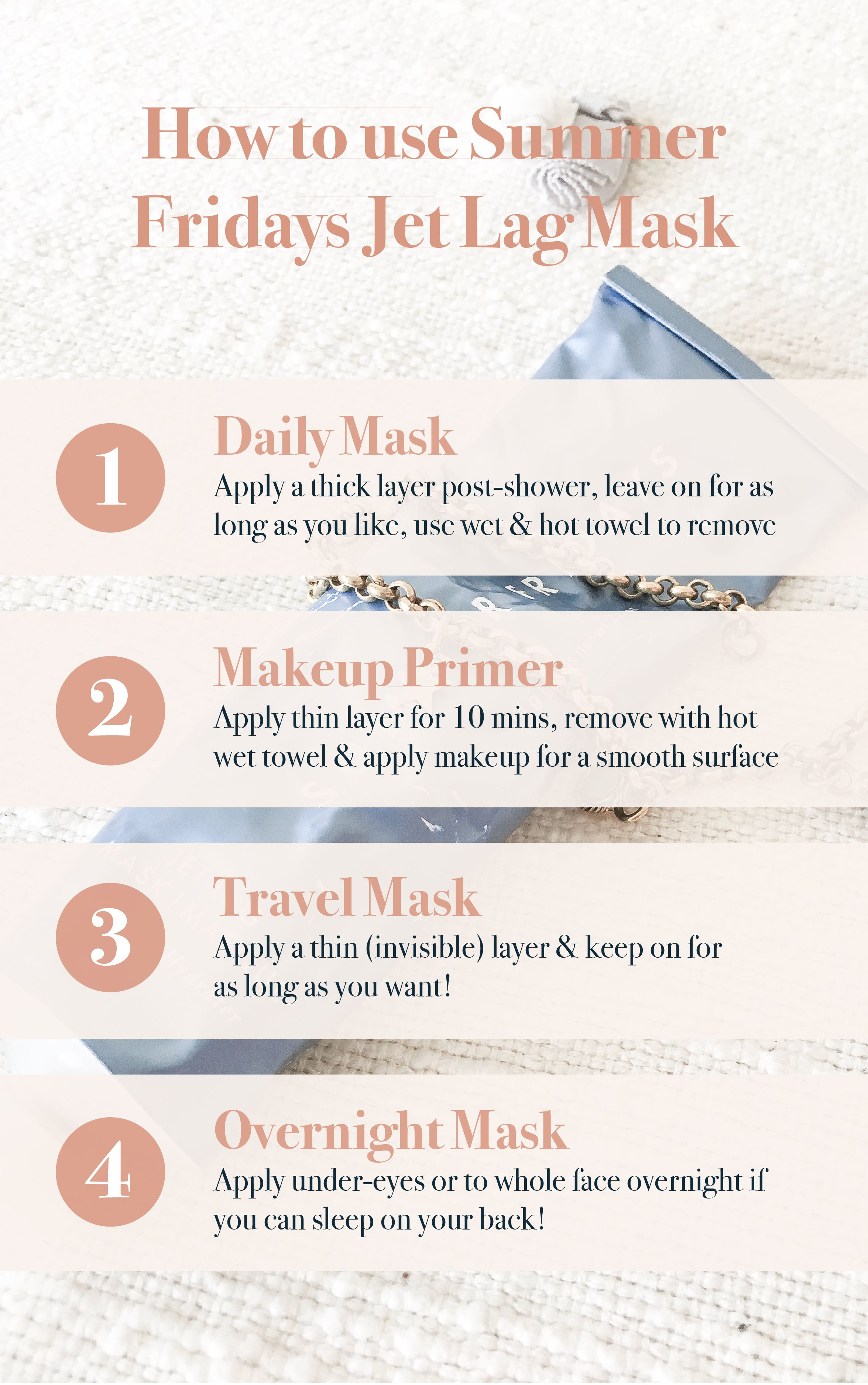 Jet Lag Mask The New Step In Your Skincare Routine Sarah Gross Design Travel Beauty Routine Travel Beauty Essentials Travel Beauty