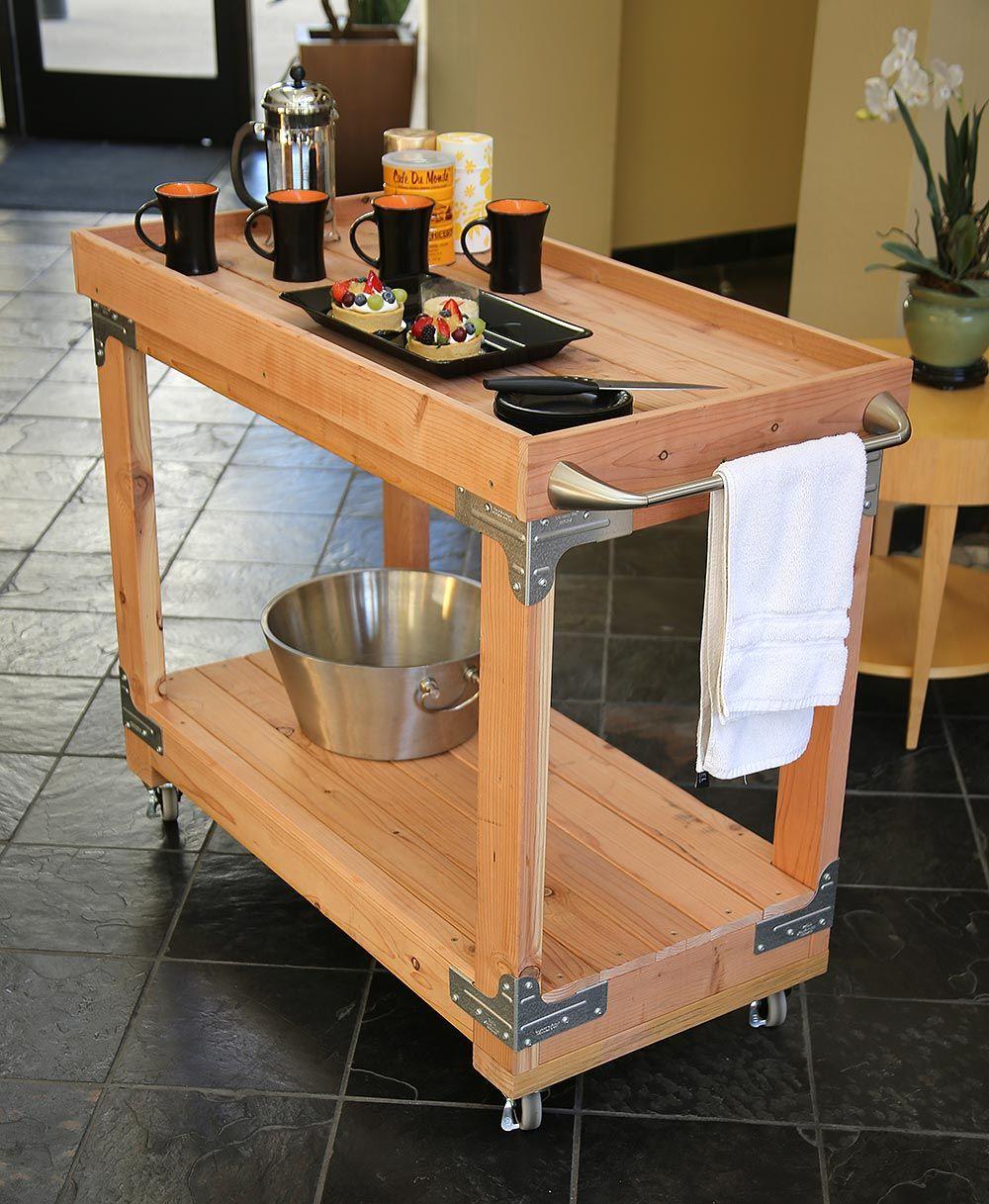 Diy trend bar carts diy done right wooden bar cart