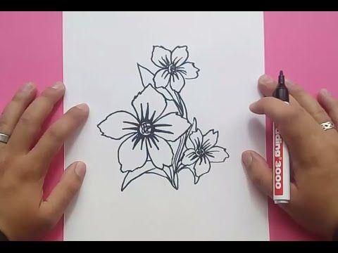 Como Dibujar Flores Paso A Paso 5 How To Draw Flowers 5 Como Dibujar Flores Dibujos De Flores Dibujo Paso A Paso