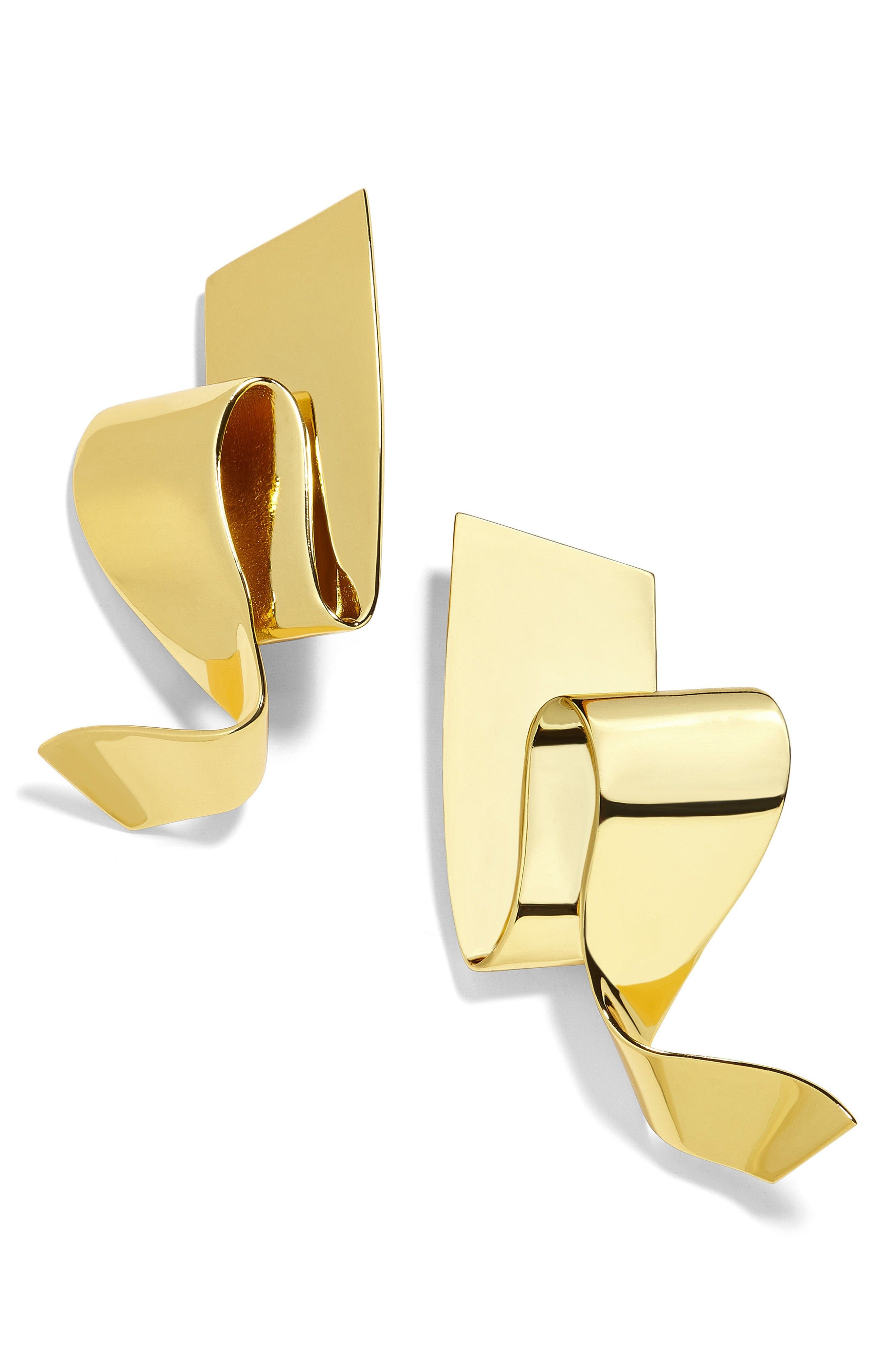 Nareh Metal Ribbon Drop Earrings Drop Earrings Gold Drop Earrings Cute Jewelry