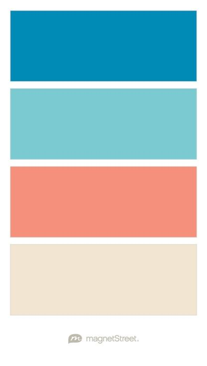 Ocean Turquoise Coral And Champagne Wedding Color