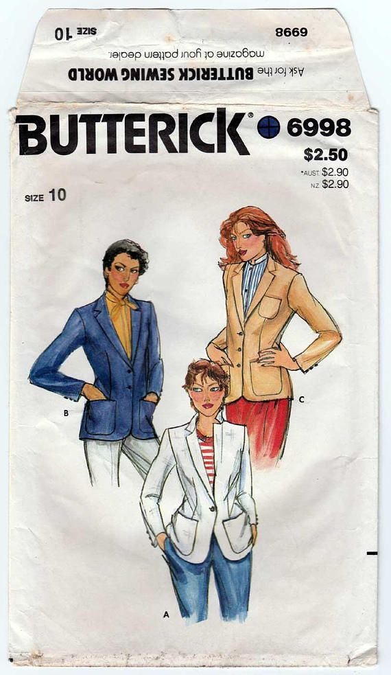 Women\'s Blazer Sewing Pattern, Loose-fitting, Notched Collar, Lined ...