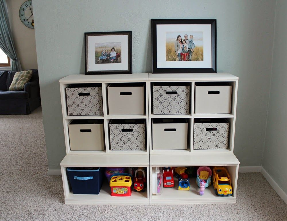 Build A Triple Cubby Storage Base Inspired By Pottery Barn Kids Cameron Collection Free And Easy Diy P Toy Storage Shelves Diy Toy Storage Diy Cube Storage