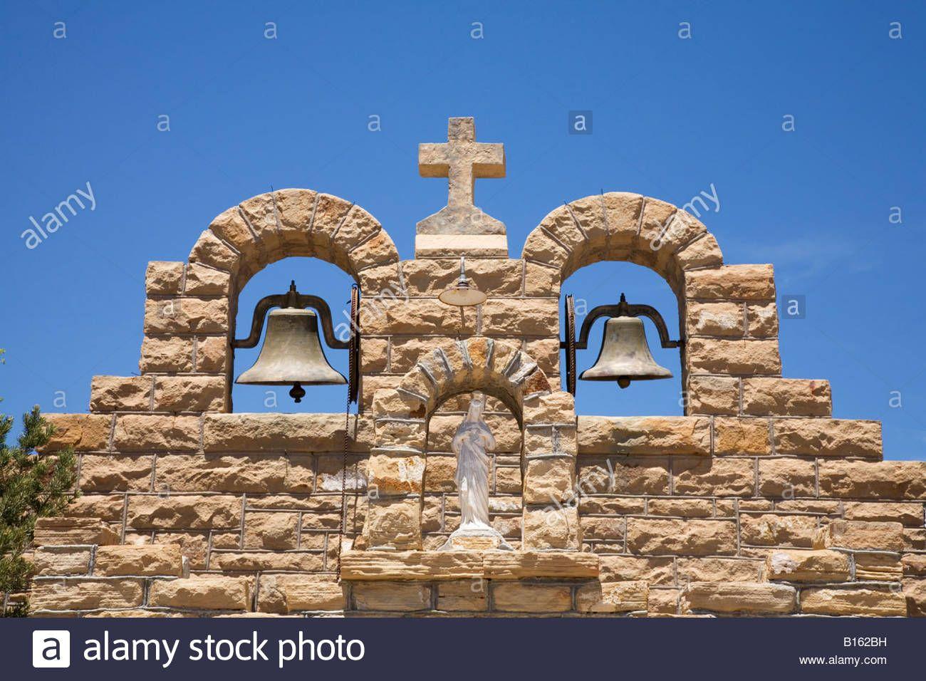 Detail Bells Saint Sacred Heart Catholic Church Quemado New Mexico New Mexico Mexico Catholic Church