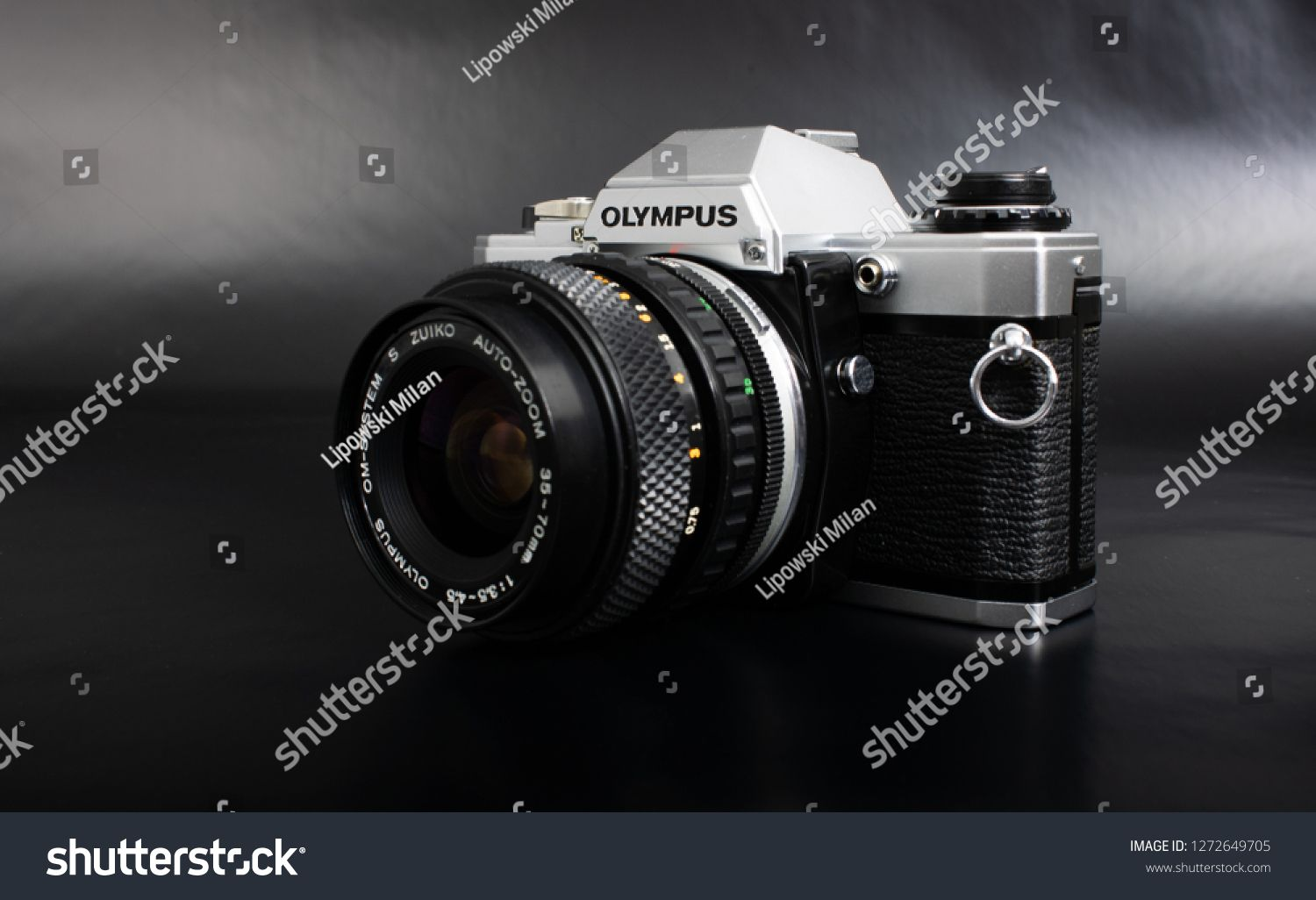 Prague, CZECH REPUBLIC - JANUARY 02, 2019: Olympus OM-10 is a 35mm film camera, launched by Olympus Corporation  #Ad , #AD, #Olympus#OM#CZECH#Prague