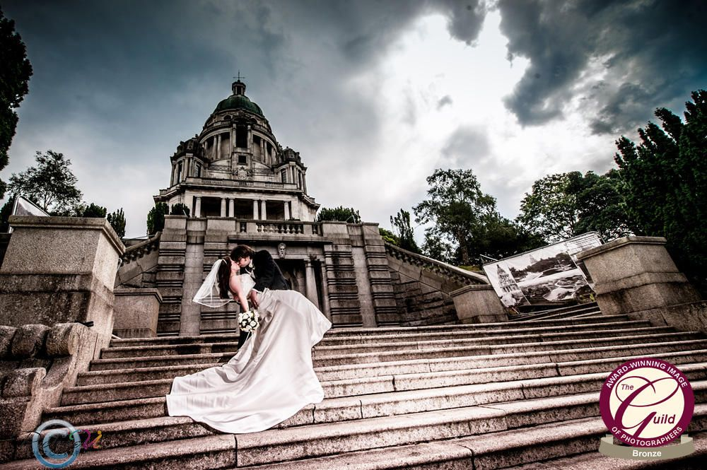 Wedding Photography the Dip at The Ashton Memorial