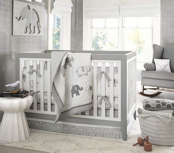 Wonderful Taylor Nursery Grey Bedding | Pottery Barn Kids