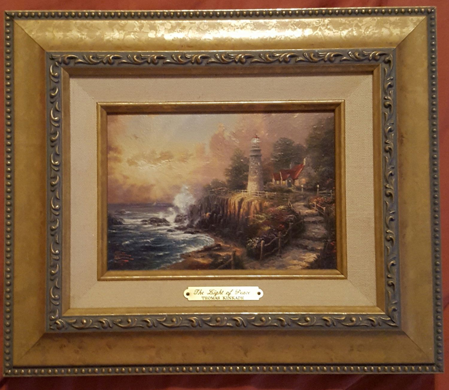Thomas kinkade brushworks collection light of peace with thomas kinkade brushworks collection light of peace with certificate of authenticity 1betcityfo Images
