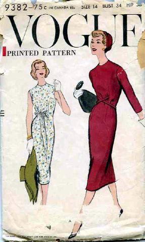 1957 Vogue Pattern. | via The Vintage Martini. | Figurines de los ...