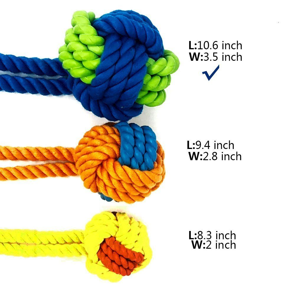 Petpany P10 Dog Toys Dog Chew Rubber Toys Puppy Ropes Dog Balls