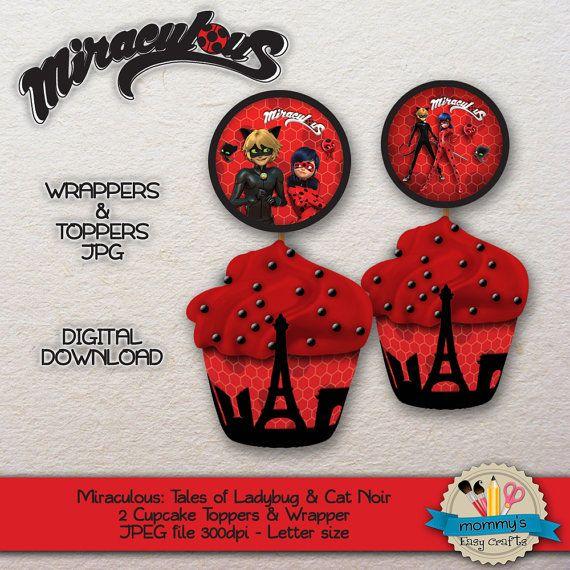 Imprimible Prodigiosa Las Aventuras De Ladybug Y Chat Noir Etsy Imprimible Envoltorios
