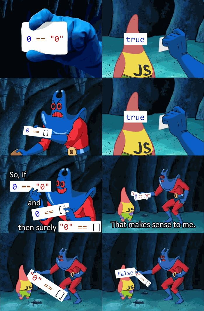 Old meme format, timeless JavaScript quirks   Meme, Sports food and ...