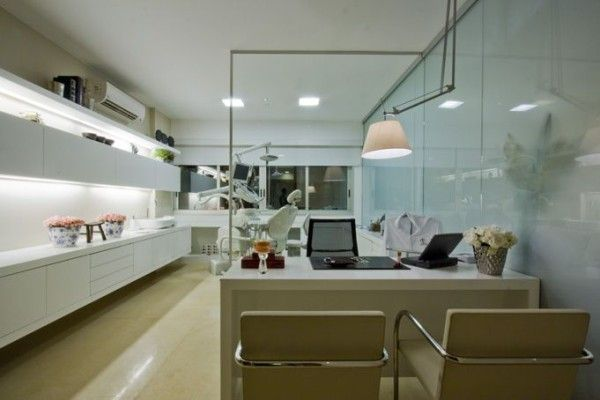 Projeto Clinica Dentista Sala Cadeira Mesa Iluminacao Clinica
