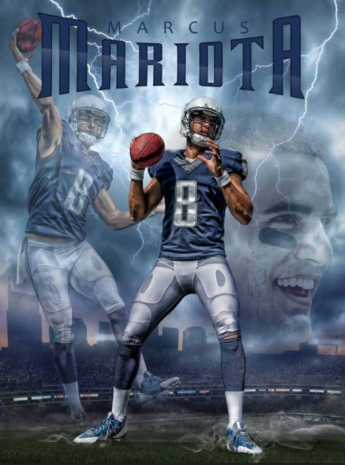 Marcus Mariota Titans Rookie 24x18 Football Poster Team Spirit Store  for sale