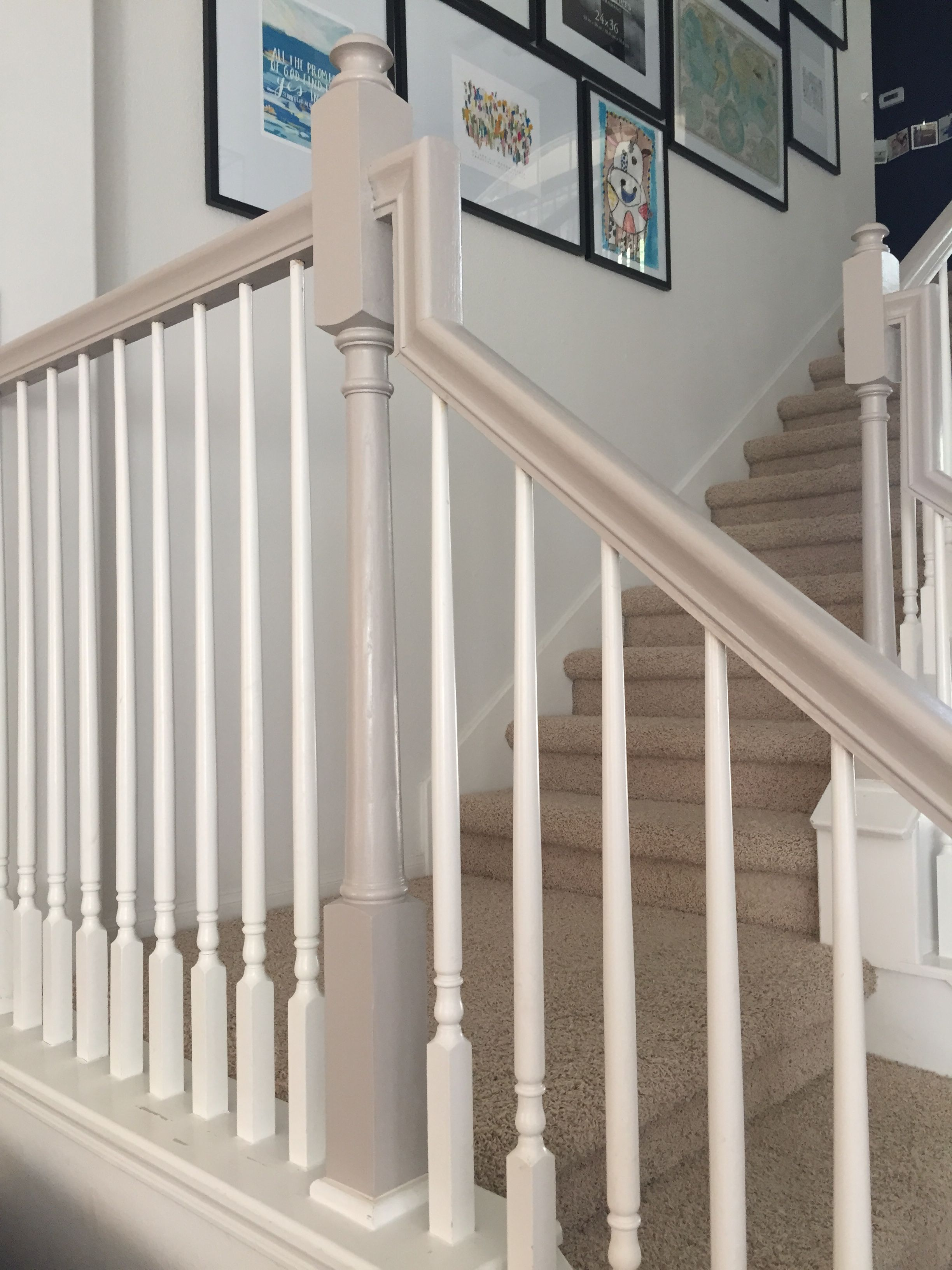 Best How I Used Chalk Paint To Update My Bannister Painted 400 x 300