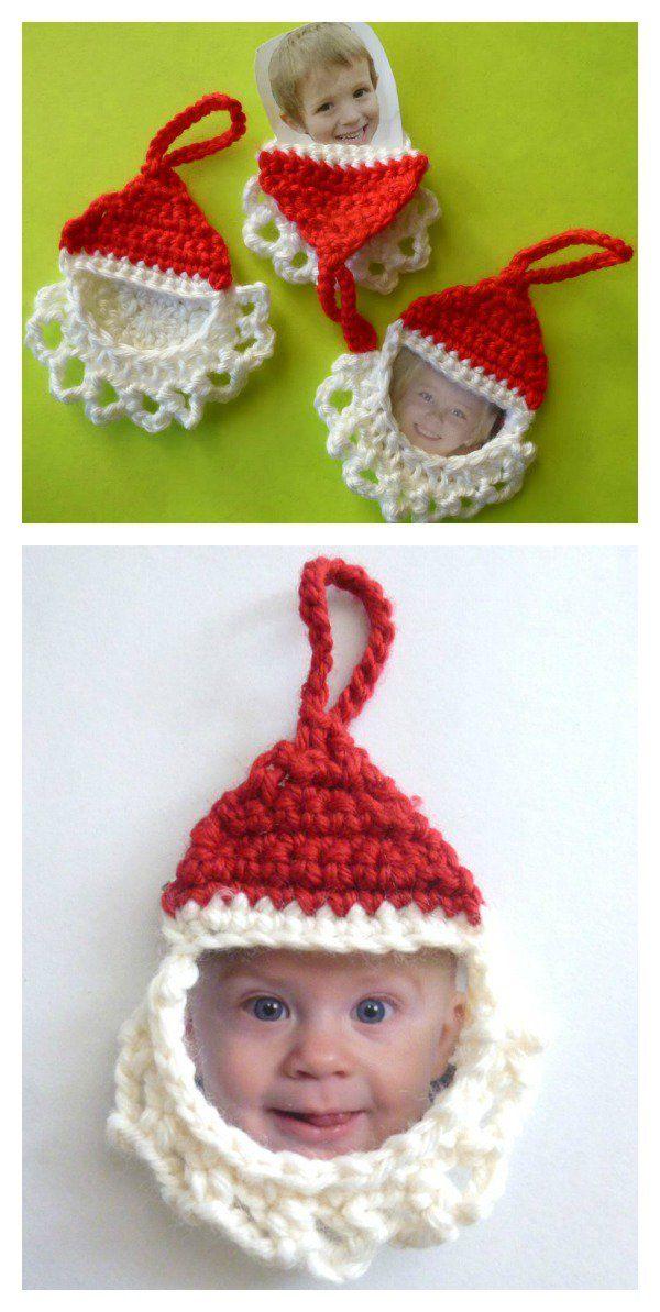 Santa Ornament Free Crochet Pattern | Weihnachten, Häkeln und ...